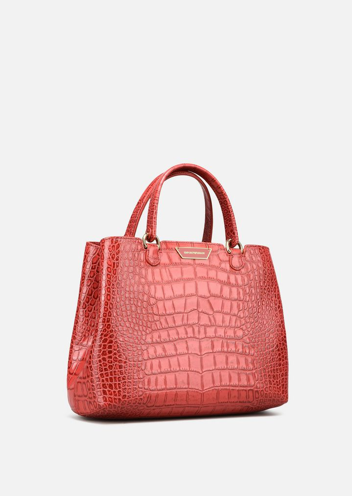 98d94e7fab SHOPPING BAG IN COW-LEATHER | Woman | Emporio Armani