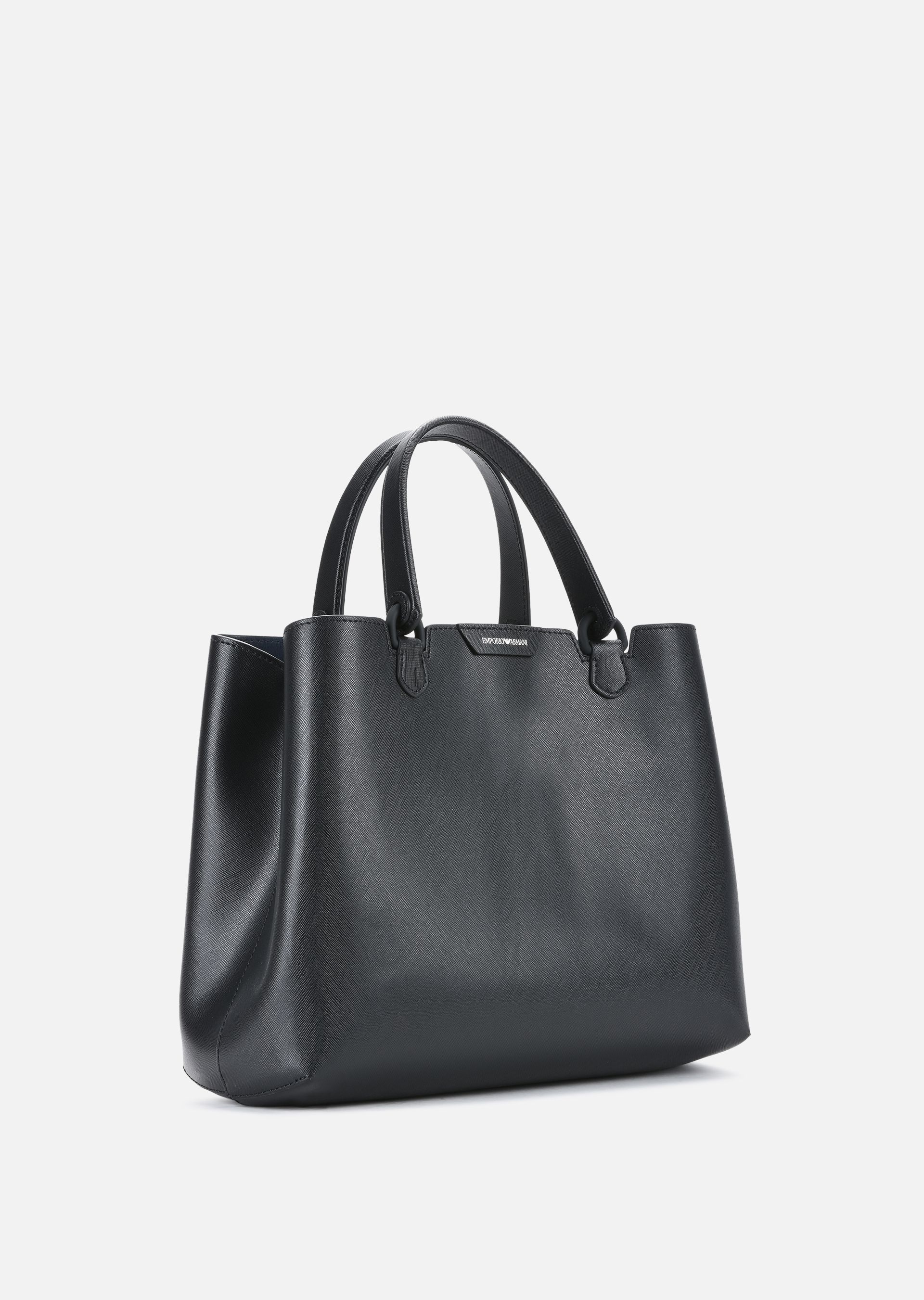 466f56f7badf ... EMPORIO ARMANI LEATHER SHOPPING BAG WITH DETACHABLE STRAP Shopper D r  ...