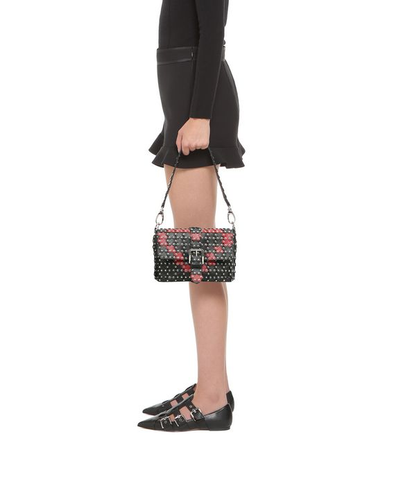 73274bcbf4 REDValentino Flower Puzzle Shoulder Bag - Shoulder Bag for Women ...