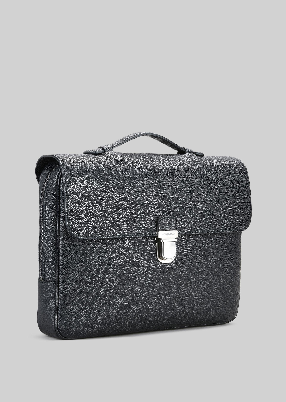 GIORGIO ARMANI LEATHER DOCUMENT HOLDER WITH HANDLE Briefcase U d