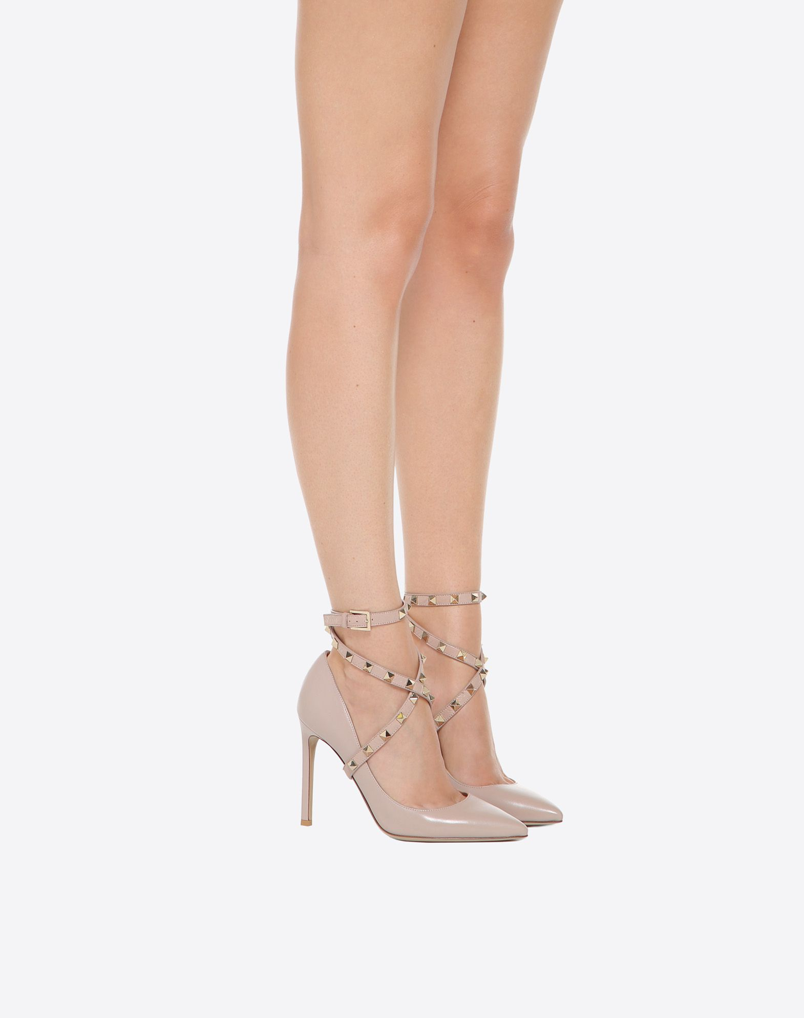Valentino Studwrap Leather Ankle-Strap Pumps cPPr5Jb