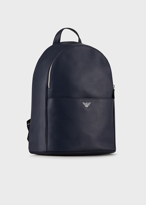 PRINTED AND BOARDED CALFSKIN BACKPACK