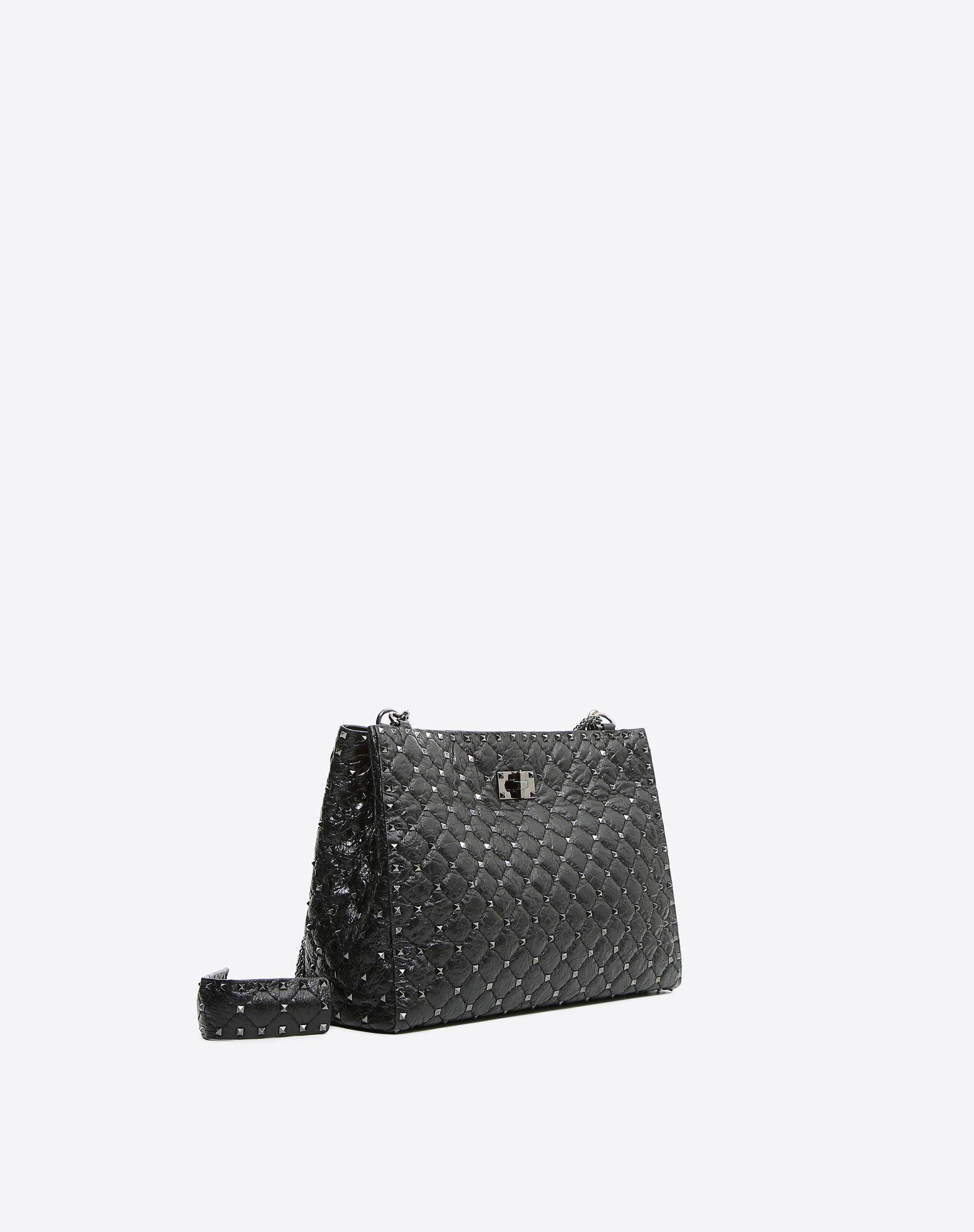 VALENTINO GARAVANI Rockstud Spike Tote Bag Shoulder bag D r