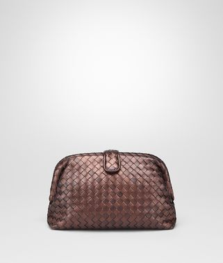 POCHETTE THE LAUREN 1980 IN INTRECCIATO NAPPA RAME SCURO