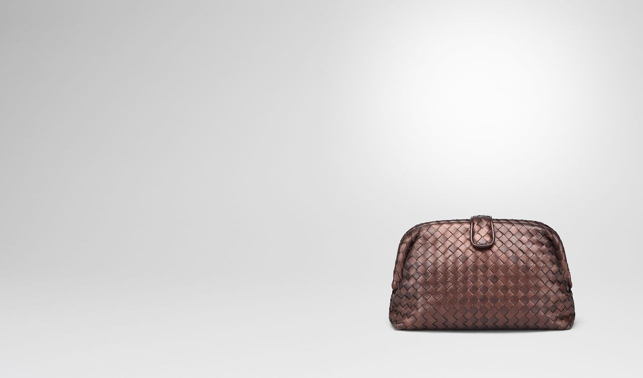 dark copper intrecciato nappa the lauren 1980 clutch landing