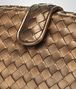 BOTTEGA VENETA ORO SCURO INTRECCIATO NAPPA THE LAUREN 1980 CLUTCH Clutch D ep