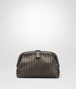 POCHETTE THE LAUREN 1980 EN CUIR NAPPA INTRECCIATO DARK BRONZE