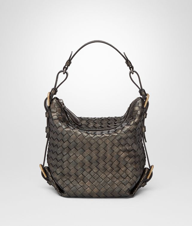 BOTTEGA VENETA DARK BRONZE INTRECCIATO NAPPA SHOULDER BAG Shoulder or hobo bag D fp