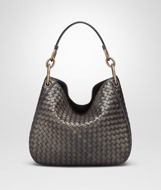 DARK BRONZE INTRECCIATO NAPPA SMALL LOOP BAG
