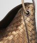 BOTTEGA VENETA ORO SCURO INTRECCIATO NAPPA SMALL LOOP BAG Shoulder Bag Woman ep