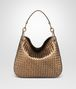 BOTTEGA VENETA ORO SCURO INTRECCIATO NAPPA SMALL LOOP BAG Shoulder Bag Woman fp