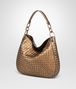 BOTTEGA VENETA ORO SCURO INTRECCIATO NAPPA SMALL LOOP BAG Shoulder or hobo bag D rp