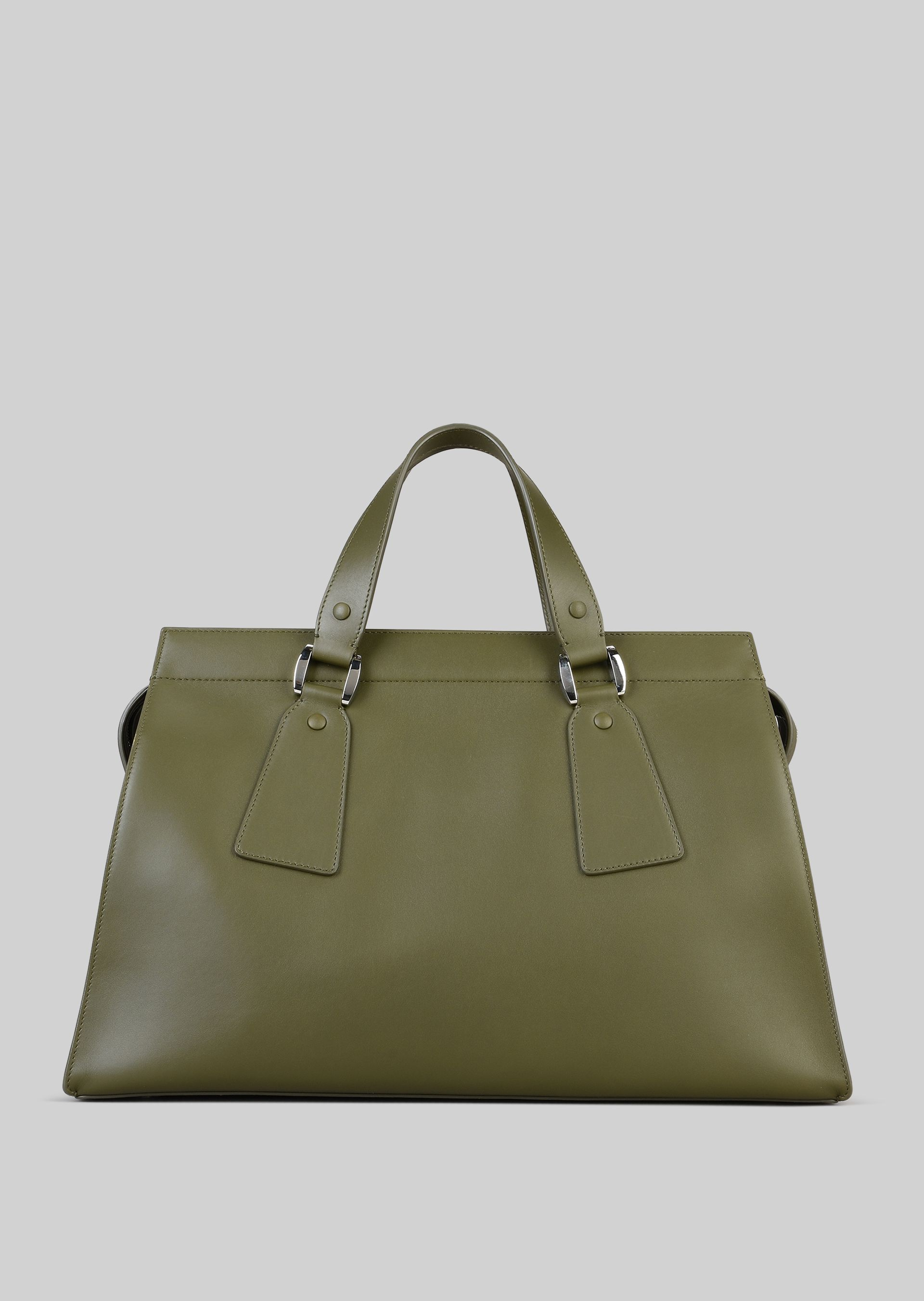 GIORGIO ARMANI TOP HANDLE BAG IN VEGETABLE TANNED CALFSKIN Top Handle D e