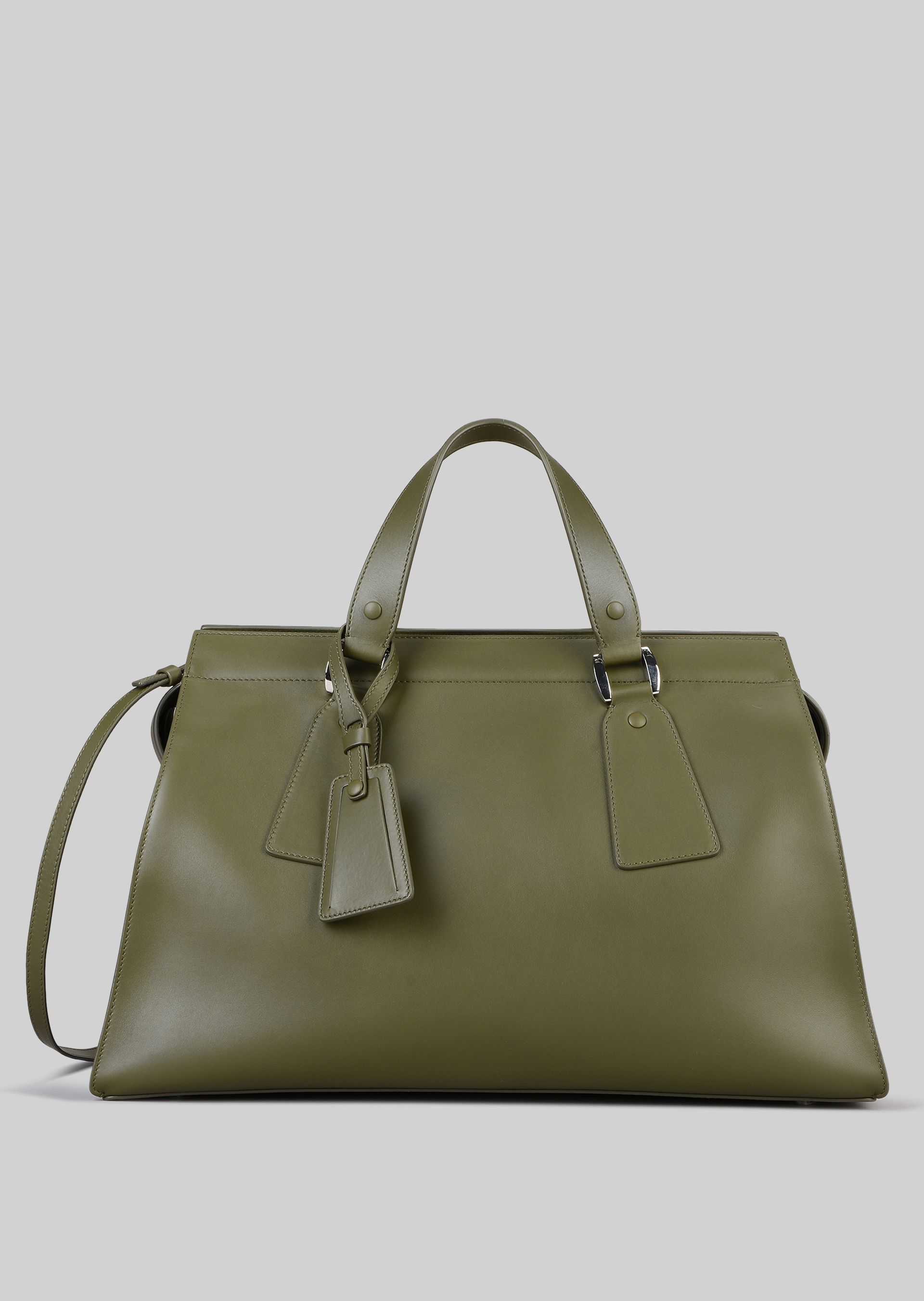 GIORGIO ARMANI TOP HANDLE BAG IN VEGETABLE TANNED CALFSKIN Top Handle D f