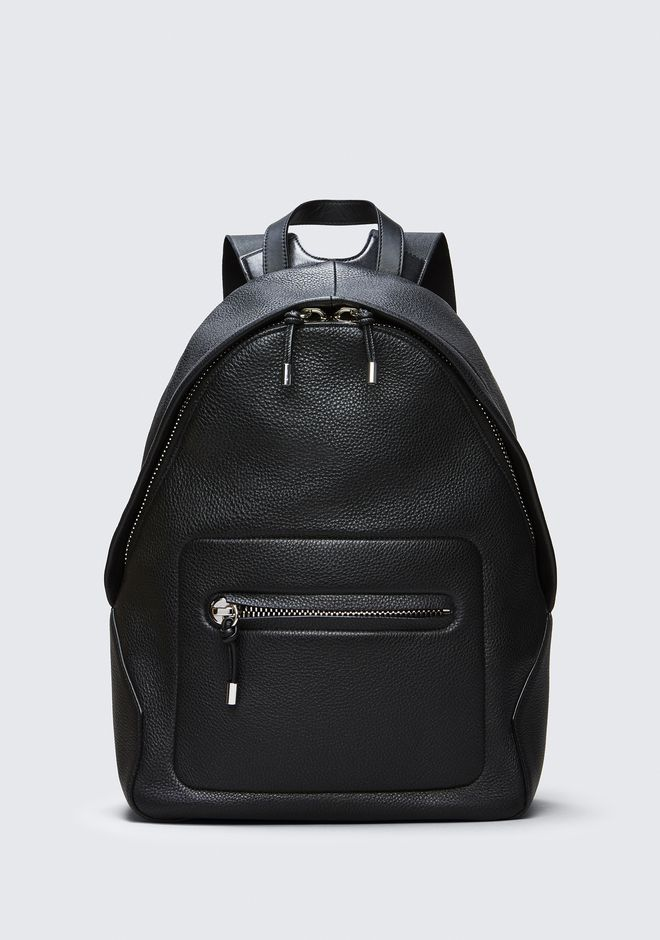 ALEXANDER WANG RUCKSÄCKE BERKELEY BACKPACK IN PEBBLED BLACK WITH RHODIUM