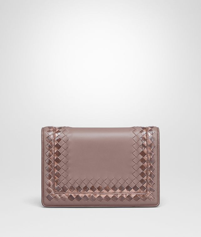 BOTTEGA VENETA BORSA MONTEBELLO MEDIA IN NAPPA DESERT ROSE Pochette Donna fp