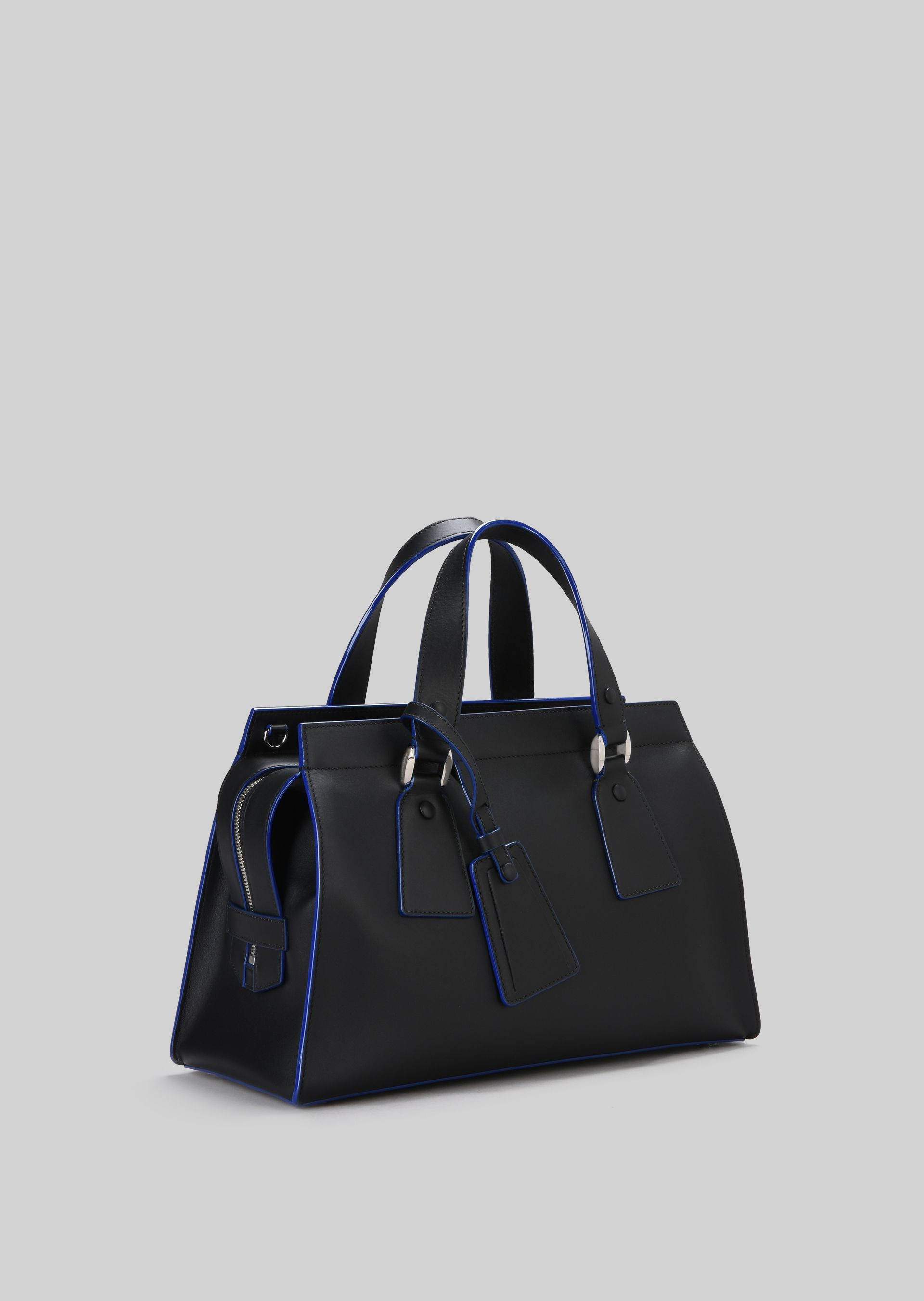 GIORGIO ARMANI TOP HANDLE BAG IN VEGETABLE TANNED CALFSKIN Top Handle D d