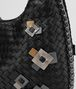 BOTTEGA VENETA MEDIUM VENETA IN INTRECCIATO NAPPA NERO WITH Kaleidoscope DETAILS Shoulder or hobo bag D ep
