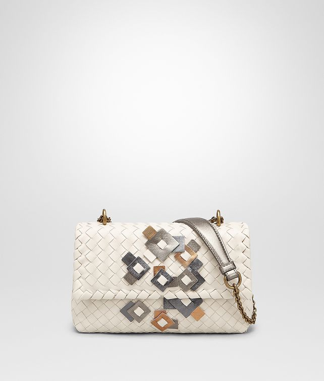 BOTTEGA VENETA BABY OLIMPIA IN INTRECCIATO NAPPA MIST WITH Kaleidoscope DETAILS Shoulder Bag Woman fp