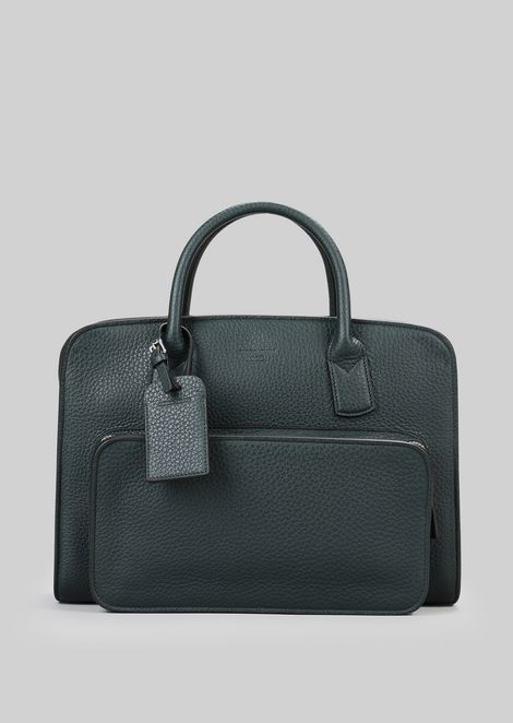 LEATHER BRIEFCASE WITH HANDLES