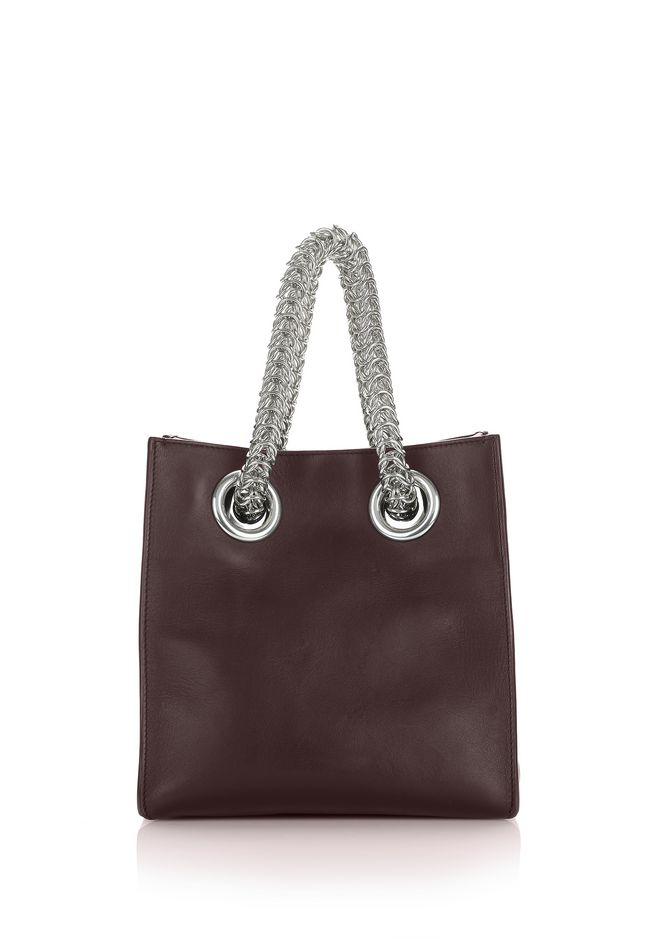 ALEXANDER WANG new-arrivals-bags-woman GENESIS SHOPPER IN CORDOVAN WITH BOX CHAIN