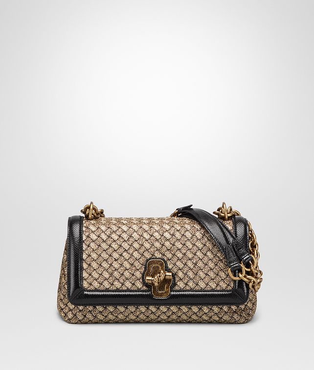 BOTTEGA VENETA OLIMPIA KNOT TASCHE AUS INTRECCIATO STRICK IN ORO BRUCIATO Shoulder Bag Damen fp