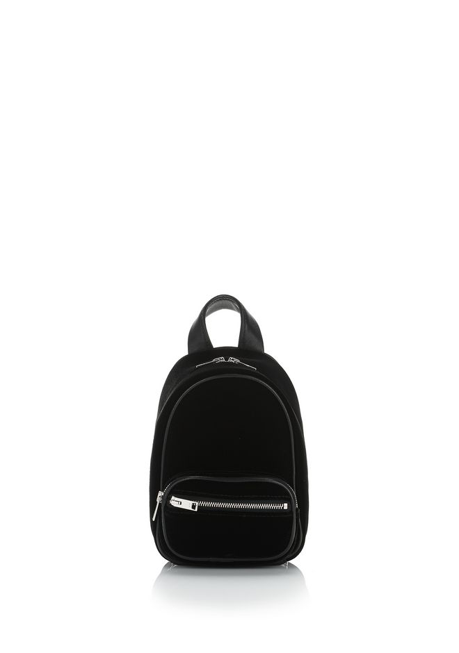 ALEXANDER WANG Shoulder bags ATTICA SOFT MINI BACKPACK IN SILKY VELVET WITH RHODIUM