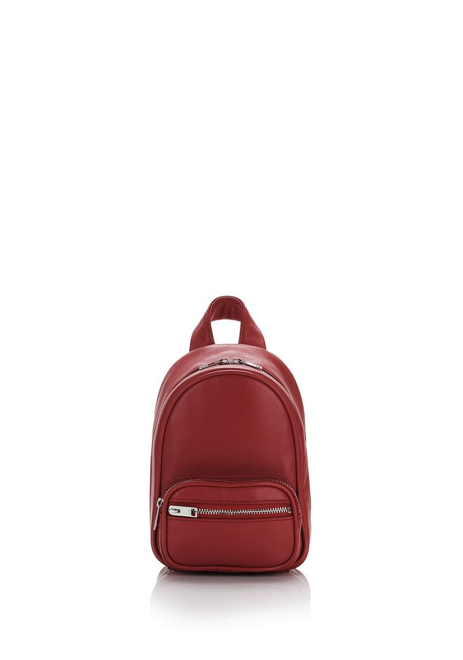 ALEXANDER WANG Shoulder bags ATTICA SOFT MINI BACKPACK IN CRIMSON WITH RHODIUM