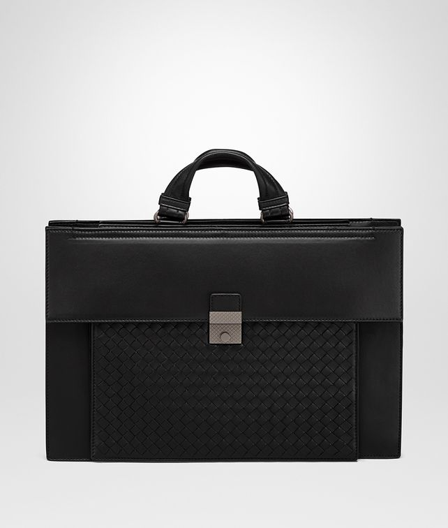 BOTTEGA VENETA NERO NAPPA BRIEFCASE Business bag [*** pickupInStoreShippingNotGuaranteed_info ***] fp