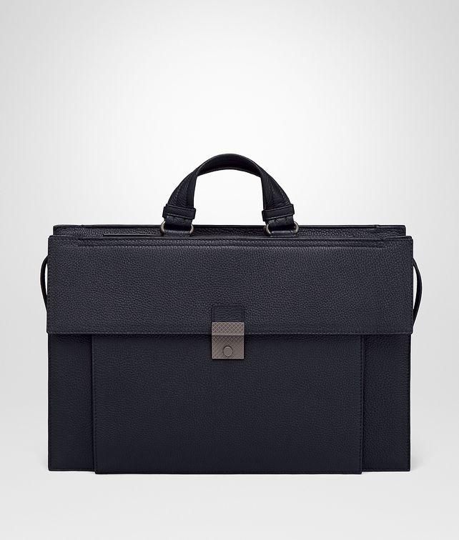 BOTTEGA VENETA NEW DARK NAVY CERVO BRIEFCASE Business bag Man fp