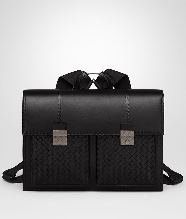 BOTTEGA VENETA NERO NAPPA BACKPACK Messenger Bag U fp