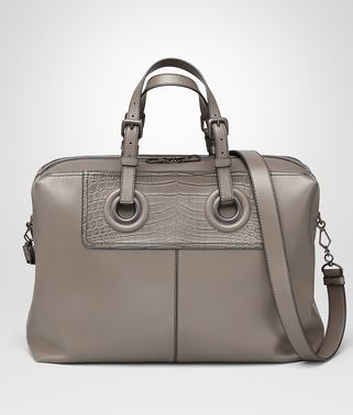 OCULUS DUFFEL BAG AUS NAPPA IN STEEL