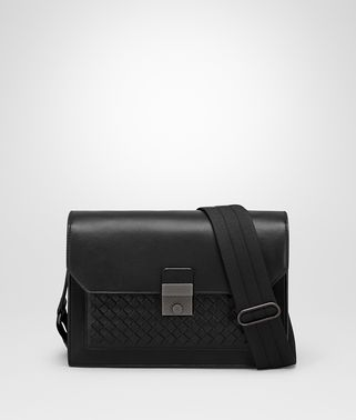 NERO NAPPA MESSENGER BAG