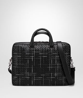 BORSA BUSINESS ATLAS IN INTRECCIATO NAPPA NERO