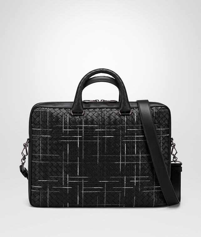 BOTTEGA VENETA NERO INTRECCIATO NAPPA ATLAS BRIEFCASE Business bag Man fp
