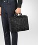 nero intrecciato nappa atlas briefcase Front Detail Portrait