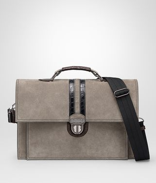 STEEL SUEDE BRIEFCASE