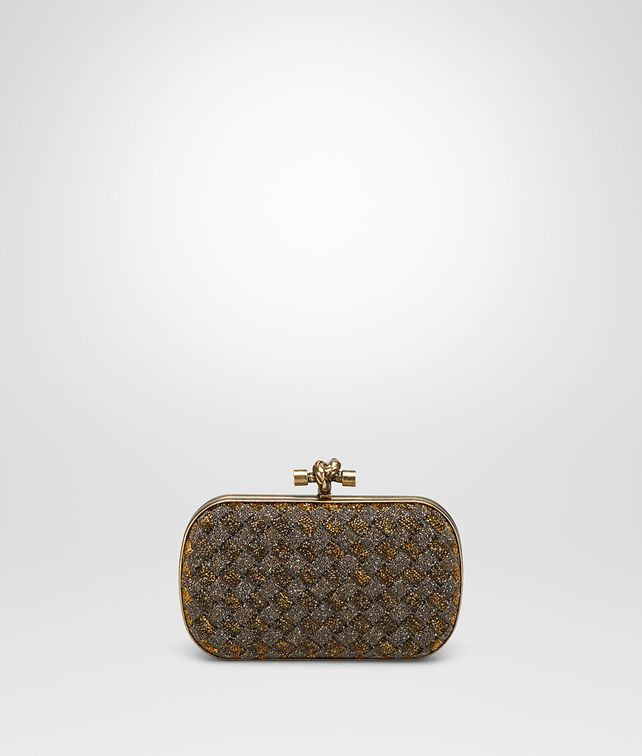 BOTTEGA VENETA BRONZO CRYSTALS KNOT Clutch [*** pickupInStoreShipping_info ***] fp