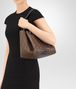 BOTTEGA VENETA DARK CALVADOS INTRECCIATO NAPPA SHOULDER BAG Shoulder Bag Woman lp