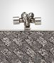 BOTTEGA VENETA ARGENTO SCURO CRYSTALS KNOT Clutch Woman ep