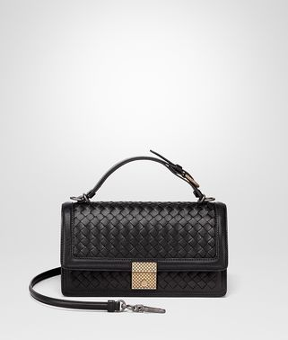 NERO INTRECCIATO NAPPA TOP HANDLE BAG