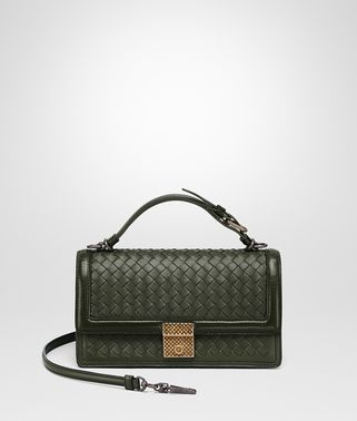 MOSS INTRECCIATO NAPPA TOP HANDLE BAG