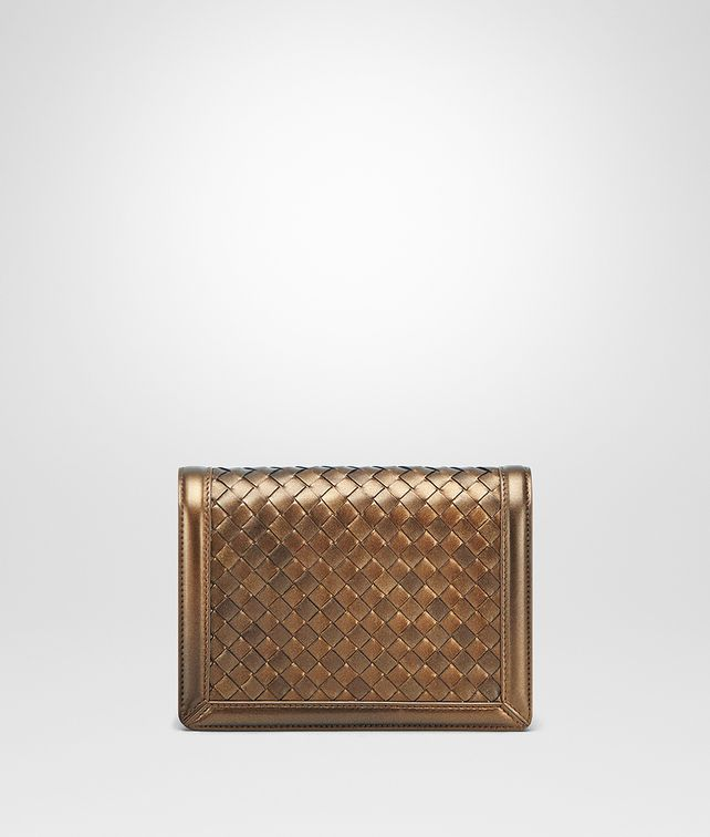 BOTTEGA VENETA ORO SCURO INTRECCIATO NAPPA MINI MONTEBELLO BAG Clutch D fp