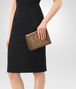 BOTTEGA VENETA ORO SCURO INTRECCIATO NAPPA MINI MONTEBELLO BAG Clutch D ap