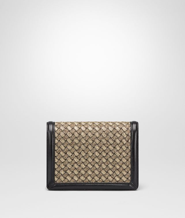BOTTEGA VENETA ORO BRUCIATO INTRECCIATO KNIT MINI MONTEBELLO BAG Clutch Woman fp