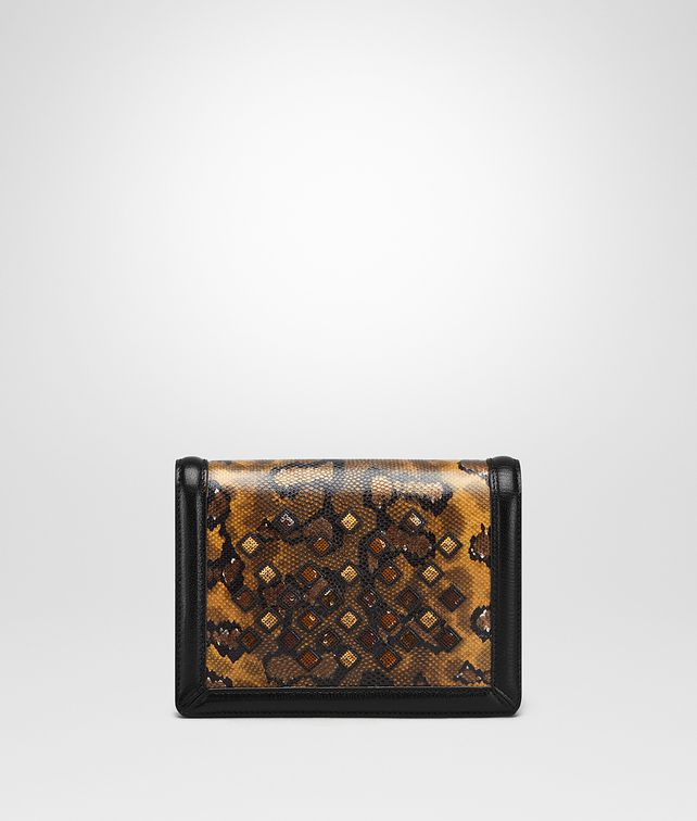 BOTTEGA VENETA OCRE KARUNG MINI MONTEBELLO BAG Clutch Woman fp