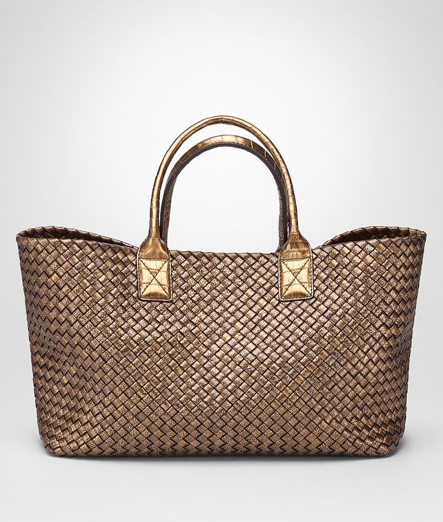 BOTTEGA VENETA ORO SCURO CALF MEDIUM CABAT Tote Bag Woman fp