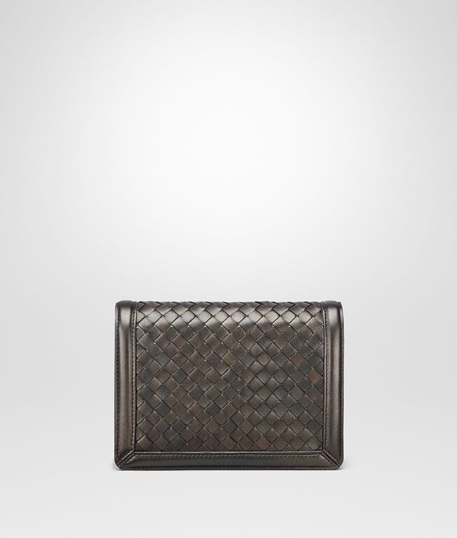 BOTTEGA VENETA DARK BRONZE INTRECCIATO NAPPA MINI MONTEBELLO BAG Clutch Woman fp