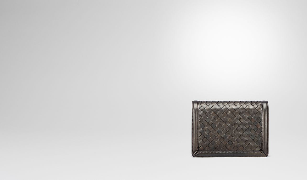 Bottega Veneta Dark bronze nappa mini wallet SVVSvVuzm