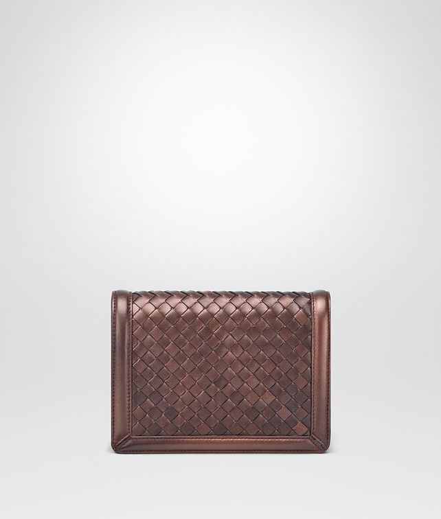 BOTTEGA VENETA DARK COPPER INTRECCIATO NAPPA MINI MONTEBELLO BAG Clutch D fp